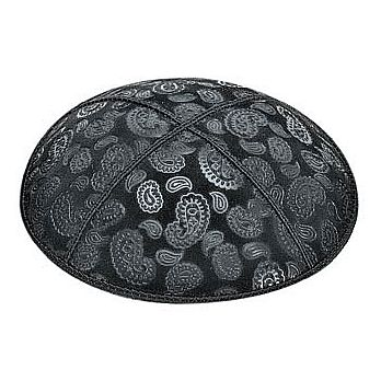Embossed Suede Kippot - Paisley