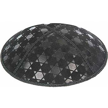 Embossed Suede Kippot - Star of David 3