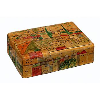 Wooden Jewelry Box - Jerusalem Natural