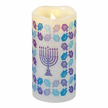 Chanukah LED Flameless Candle - Battery Operated