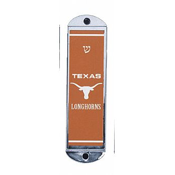 Metal Car Mezuzah - Longhorns