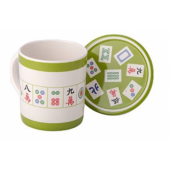 Mahjong Melamine Coffee Mug and Coaster