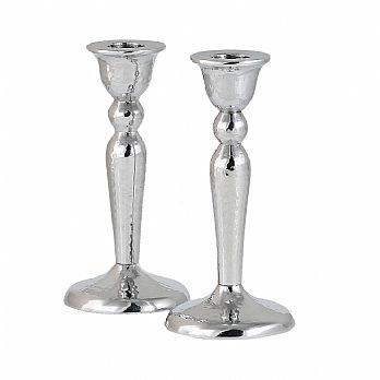 Classic Hammered Aluminum Candlestick Set with Star