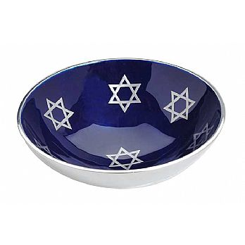 Aluminum Bowl with Blue Enamel