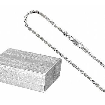 Silver Cut Rope Elegant Chain