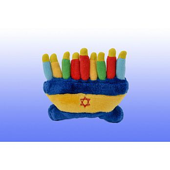 Jewish Plush Pet Toy - Menorah