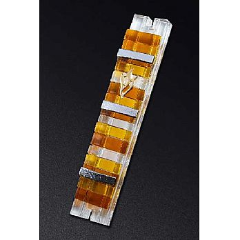 Fused Glass Mezuzah Cover by Daryl Cohen Larger