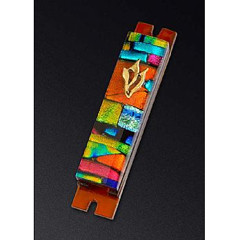 Fused Glass Mezuzah Cover by Daryl Cohen