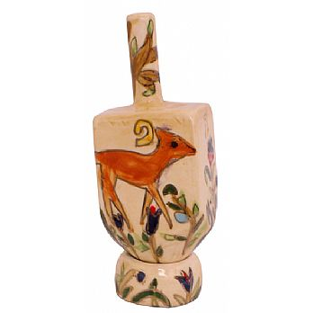 Ceramic Dreidel By Karshi - Doe