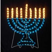 Hanukkah Decorations Blowup Menorahs Window Decorations