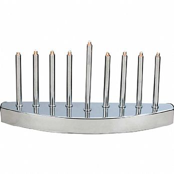 Electric Powered Designer Menorah with Mini Bulbs