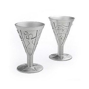 Contemporary Pewter Miriam Cup
