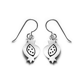 Sterling Silver Pomegranate Earrings
