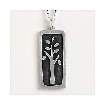 Sterling Silver Tree of Life Vignette Necklace
