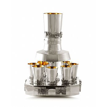 Sterling Silver Wine Fountains - BIER Jerusalem