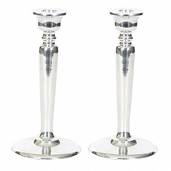 Enamel Classic Candle Holder- Chrome