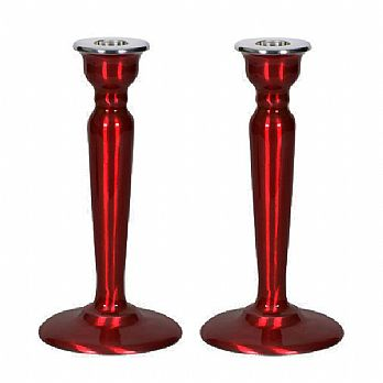Enamel Classic Candle Holder- Red
