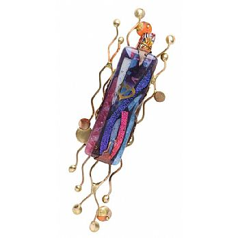 Gary Rosenthal Large Squiggles Mezuzah Cover