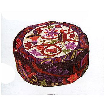 Hand Embroidered Kippah Hat