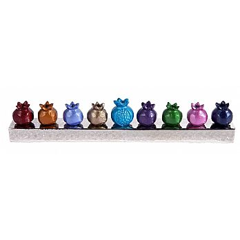 Emanuel Chanukah Menorah Strip- Pomegranate (multicolored)