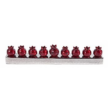 Emanuel Chanukah Menorah Strip- Pomegranate (red)