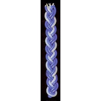 Large Flat Havdallah Candle Blue & White