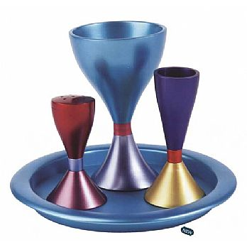 Anodized Aluminum Havdallah Set - Multi Color