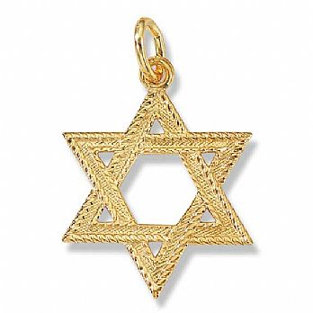 24K Gold over Sterling silver Star of David Pendant