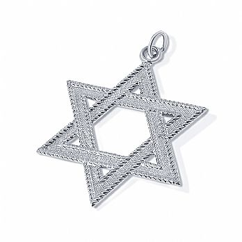 Large Sterling Silver Star of David