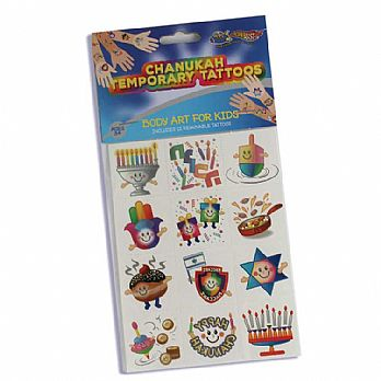 Chanukkah Temporary Tattoos - 12 Prints