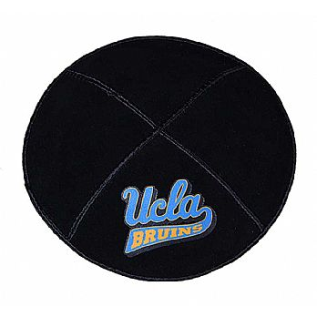 UCLA Bruins Sports Kippah - Genuine Black Suede