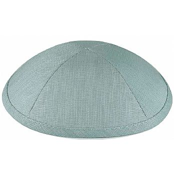 Deluxe Linen Kippot with Optional Imprint - Classic Blue