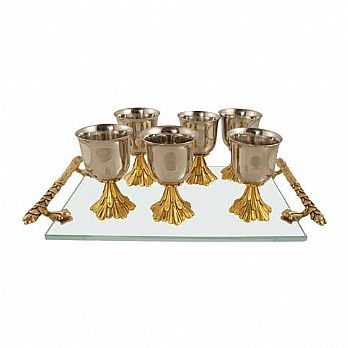 Waterfall Liquor Set with Tray