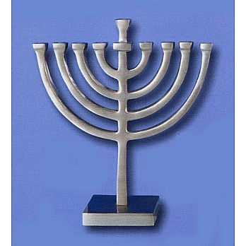 Traditional Aluminum Menorah - Square Base