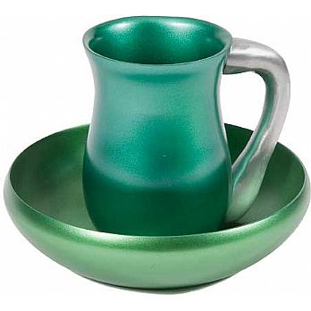 Anodized Aluminum Mayim Achronim Set by Emanuel - Green