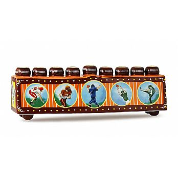 Ceramic Collectible Sports Menorah - Football