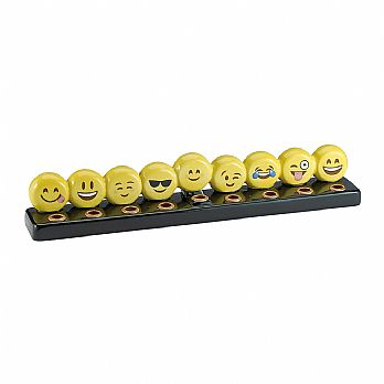 EMOJI Menorah Hand-painted Ceramics