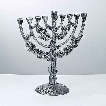 Aluminum Flowering Menorah