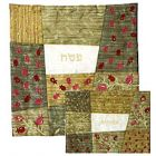 Raw Silk Matzah and Afikomen Set - Gold