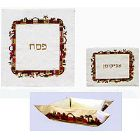 Raw Silk 3 Piece Passover Set - Jerusalem