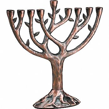 Real Looking Tree of Life Menorah - Large Copper