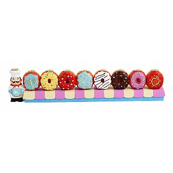 Poly Resin Donuts Menorah