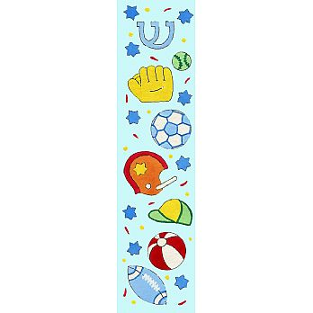 Sports Blue Mezuzah Cover  (small)