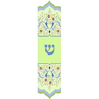 Floral Arabesque Mezuzah Cover  (small)
