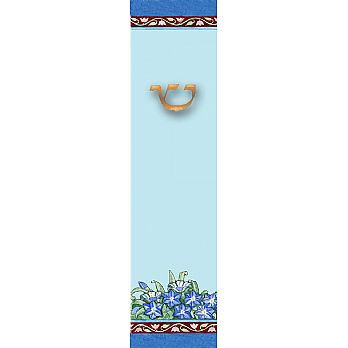 ''Forget Me Nots'' Mezuzah Cover (small)
