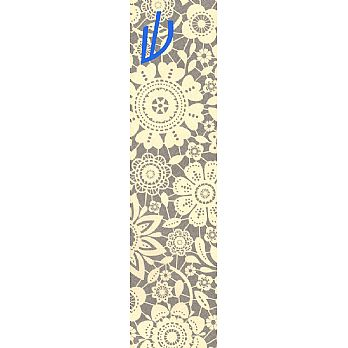 Floral (gray) Mezuzah Cover (small)
