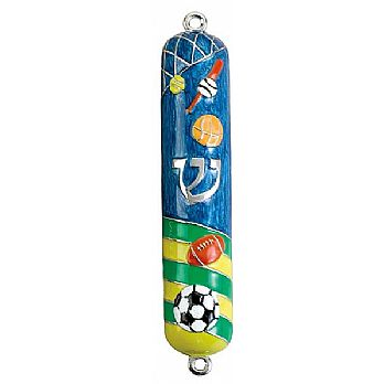 Mezuzah Cover Assorted Sports for Boys and Girls
