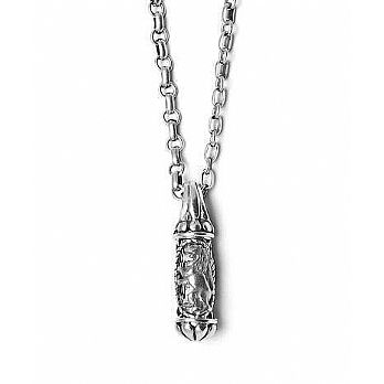 Sterling Silver Mezuzah Necklace - Lion of Judah