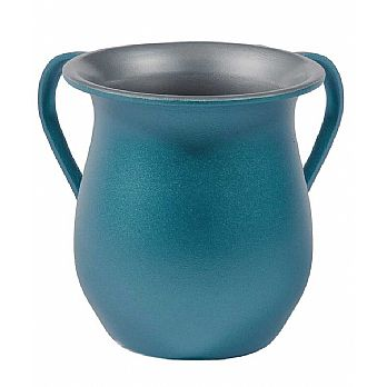Emanuel Textured Steel Washing Cup- Blue
