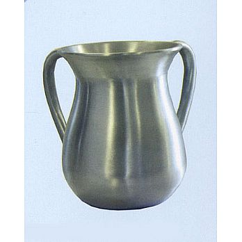 Modern Steel Wash Cup by Emanuel - Silver